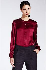 burgundy blouse shimmering blouse with buttons by kala fashion kala