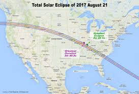New York On Us Map by How Long Will The 2017 Solar Eclipse Last Depends Where You Are