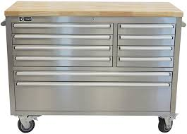 stainless steel workbench cabinets trinity 48 stainless steel rolling workbench at costco
