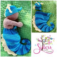 Seahorse Halloween Costume Crochet Newborn Seahorse Hat U0026 Cocoon Newborn Baby