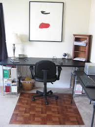 Computer Desk Floor Mats It Frugal Diy Wooden Office Chair Mat