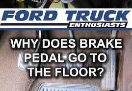Hit The Floor Return - why does my brake pedal go to the floor youtube