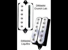 new pickups dimarzio crunch lab and liquifire youtube