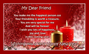 happy new year greetings cards new year wish for a special friend free friends ecards greeting