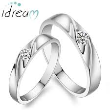 silver wedding ring sets simple wave promise ring personalized sterling silver