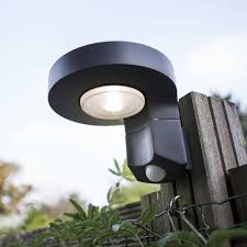 Solar Powered Wall Lights Uk - lutec diso solar powered 2w led 200 lumen exterior pir wall light