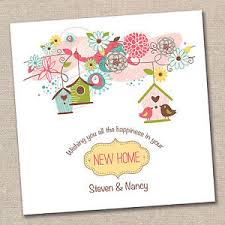 personalised handmade new home moving house card congratulations