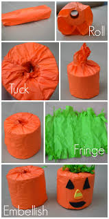 toilet paper halloween games and decor newlywoodwards pumpkin toilet paper craft