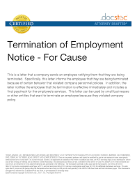 Ontario Notice Of Termination by Sample Letter For Termination For Just Cause Name Of Manager Title