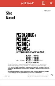 komatsu pc200 6 shop manual komatsu pc200 6 shop manual bisa sobat