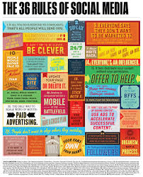 36 rules of social media your social media plan infographic