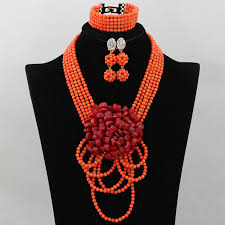 african beads necklace sets images New design african nigerian wedding beads necklace bridal jpg