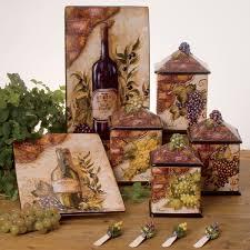 grape canister sets kitchen wine canister set certified international vintage wine