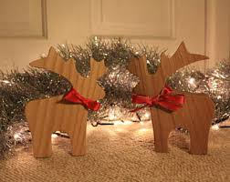 Wooden Reindeer Christmas Tree Decorations by Wooden Reindeer Etsy