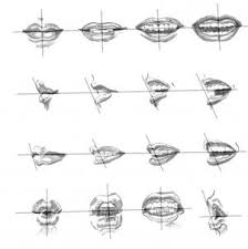 gallery how to sketch lips drawing art gallery