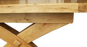 x leg dining table the empire x leg solid oak extending dining table blonde range