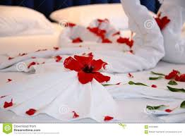 Hotel Flower Decoration Honeymoon Bed Flower Decoration Stock Photo Image 67679892