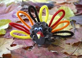 pinecone turkey diy craft