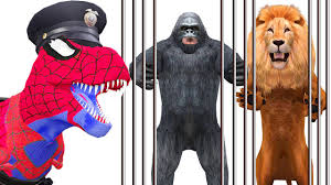 Godzilla Halloween Costume Amazing Wild Animal Attacks Gorilla Lion Godzilla