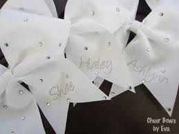 personalized bows personalized bow with scattered rhinestones large