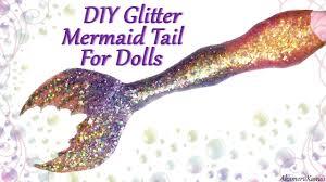 diy sparkly doll mermaid tail craft tutorial youtube