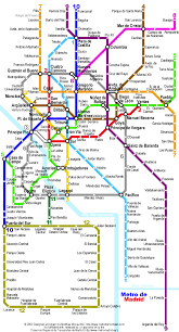 Madrid Subway Map Madrid Metro