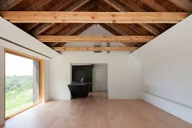 vaulted ceiling beams home has open vaulted ceiling with exposed beams