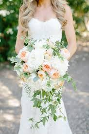 cascading bouquet peony and vine cascading bouquet elizabeth designs