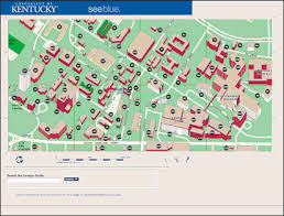 uky map the of kentucky cus guide help