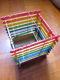 shine kids crafts rainbow popsicle sticks pen holder
