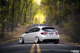 subaru wrx hatchback stance slammed white on white subaru wrx sti via canibeat love the
