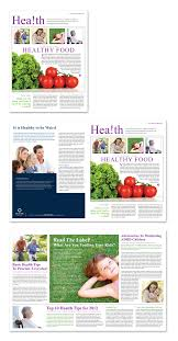 health insurance company newsletter template dlayouts graphic