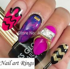 wholesale turquoise nail art rings christmas nails beauty 3d
