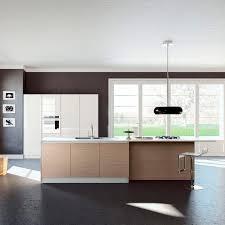 Wood Veneer For Kitchen Cabinets Contemporary Kitchen Wood Veneer Polymer Island Kalea