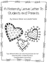 editable maternity leave letter by dancing in our teacher shoes tpt