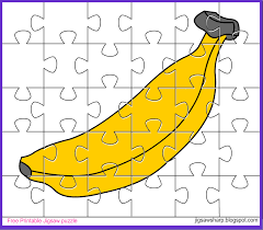 free printable jigsaw puzzle game banana jigsaw puzzle
