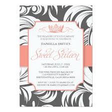 crown sweet sixteen birthday party invitation card
