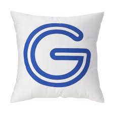 g u0027 bright letter throw pillow the land of nod