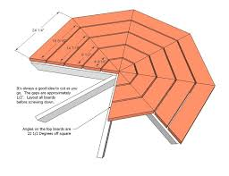 Make A Picnic Table Free Plans by Treated Pine Octagon Walk In Picnic Table Hexagon Picnic Table