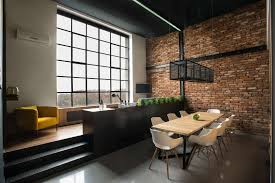 furniture attractive industrial apartment decor with gray loft