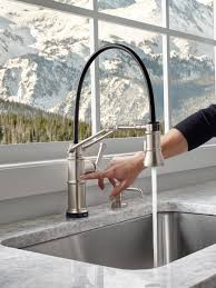 articulated kitchen faucet single handle articulating kitchen faucet with smarttouch