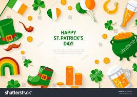 happy st patricks day background irish stock vector 563463388