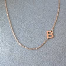 initials jewelry aliexpress buy personalized sideways initials necklace