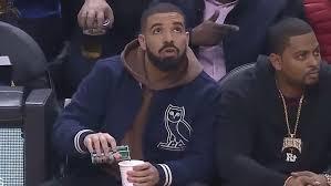 Drake Lean Meme - drake caught on camera pouring drink at raptors game tmz com