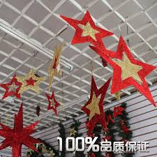 Christmas Decorations Online Cheap by Christmas Decorations In The Atrium Charm Red Five Pointed Star