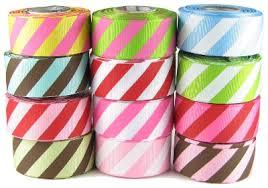 striped grosgrain ribbon 7 8 diagonal stripe ribbon hip girl boutique llc free hairbow