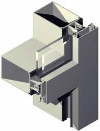 Stick System Curtain Wall Stick System Curtain Wall Aluminum And Glass 60 K Feal