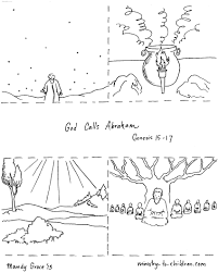 abraham and gods promise coloring page inside pages throughout