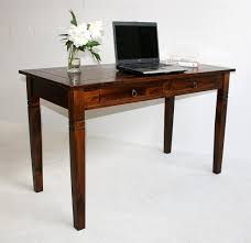Schreibtisch Holz Mit Schubladen Schreibtisch 130x80x64cm 2 Schubladen Pappel Massiv