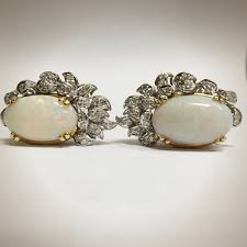 white opal earrings vintage opal earrings choice image jewelry design examples